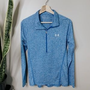 • UNDER ARMOUR • blue thermal quarter zip top